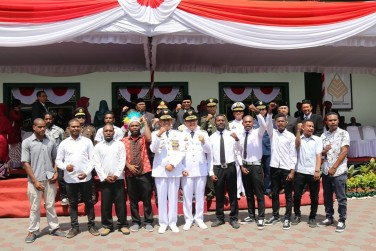 Pimpin Upacara HUT RI ke-74 di Yogyakarta, Walikota Haryadi Suyuti Tegaskan Pentingnya SDM Unggul