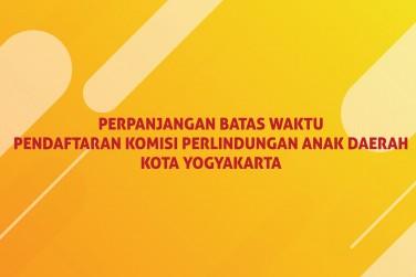 Perpanjangan Pendaftaran Calon Anggota KPAD Kota Yogyakarta