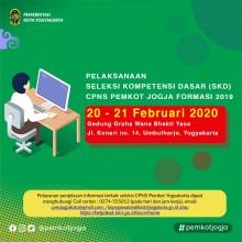 Pelaksanaan Seleksi Kompetensi Dasar CPNS Pemkot Yogyakarta Formasi Tahun 2019