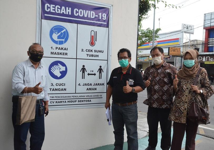 Pembinaan Protokol Kesehatan di Tempat Kerja Cegah Penularan Covid-19