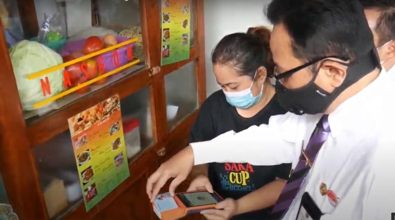 Pasar Prawirotaman Dilengkapi QRIS Dukung Transaksi Digital