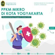 Perpanjangan Pemberlakuan Pembatasan Kegiatan Masyarakat Berbasis Mikro di Kota Yogyakarta