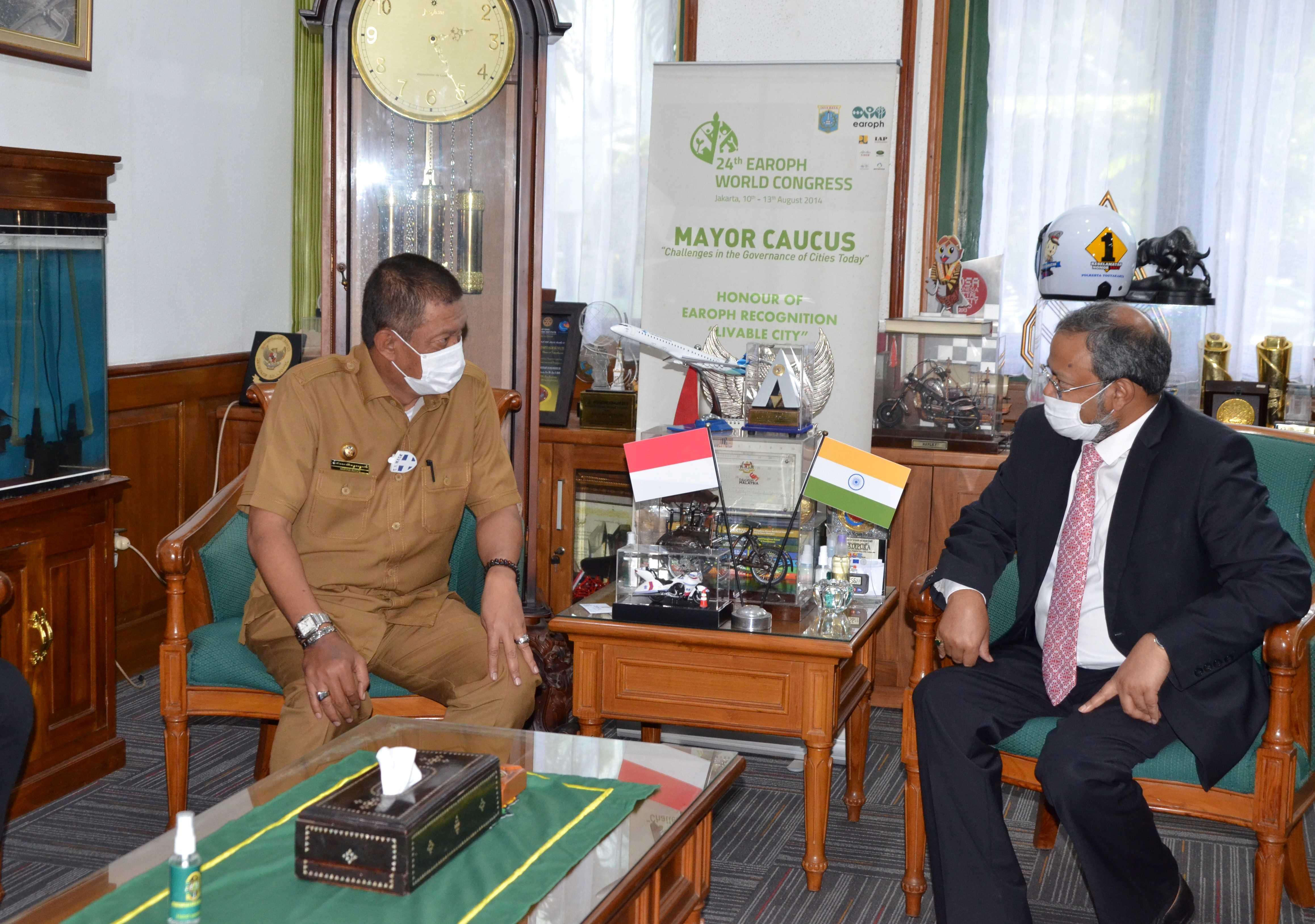 Walikota Yogya Terima Kunjungan Dubes India