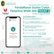 Pemkot Yogya Buka Pendaftaran BPUM 2021 Tahap Kedua