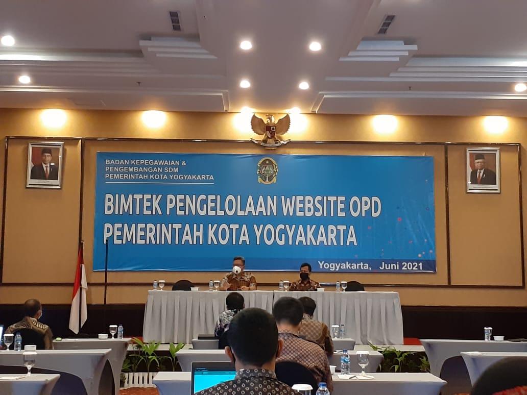 Tingkatkan Keterampilan Pengelolaan Website OPD, Pemkot Yogya Gelar Bimtek