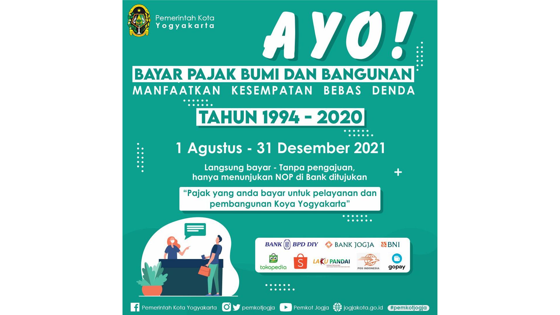 Penghapusan Sanksi Administratif Berupa Denda Atas Tunggakan Pajak Bumi dan Bangunan Perdesaan dan Perkotaan di Kota Yogyakarta