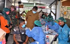 Pemkot Yogya Gelar Vaksinasi Sekaligus Distribusi Bantuan Beras