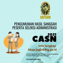 Pengumuman Hasil Sanggah Peserta Seleksi Administrasi CASN Tahun Anggaran 2021
