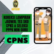 Koreksi Lampiran Jadwal SKD CPNS dan Seleksi PPPK Non-Guru