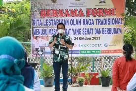 Senam Tradisional Semarakkan Kampung Wisata Grojokan Tanjung