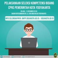 Jadwal Seleksi Kompetensi Bidang (SKB) CPNS Pemerintah Kota Yogyakarta 2018