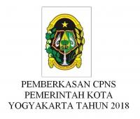 Pemberkasan CPNS Pemerintah Kota Yogyakarta Tahun 2018