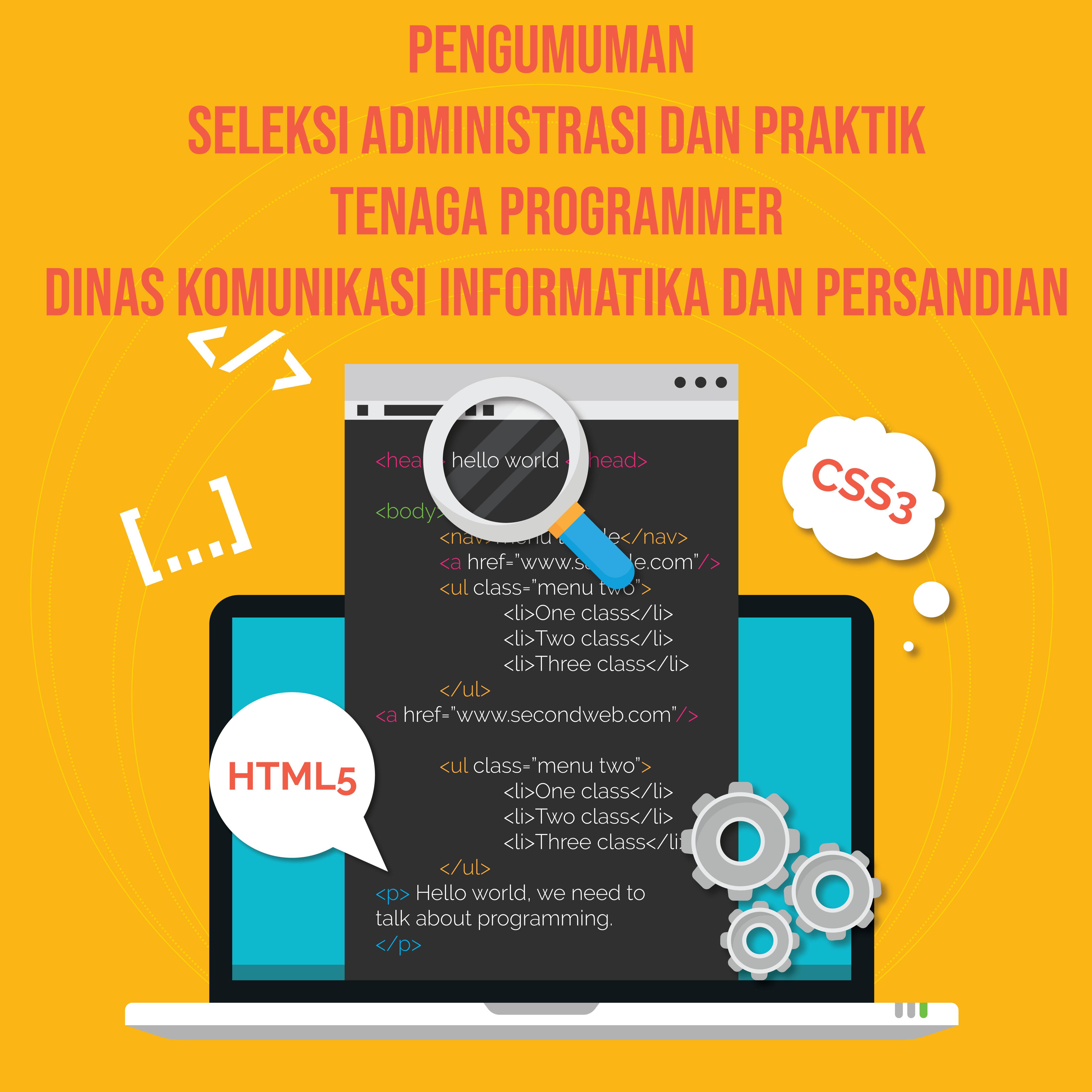 Hasil Seleksi Administrasi dan Praktik Tenaga Programmer di Dinas Kominfosandi